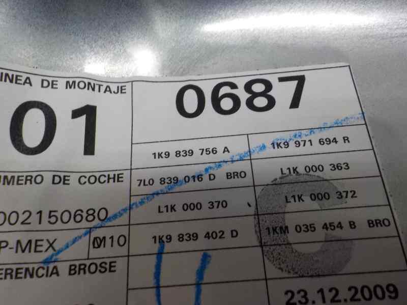 ELEVALUNAS TRASERO DERECHO VOLKSWAGEN GOLF VI VARIANT (AJ5) Advance  1.6 TDI DPF (105 CV) |   04.09 - 12.13_img_2