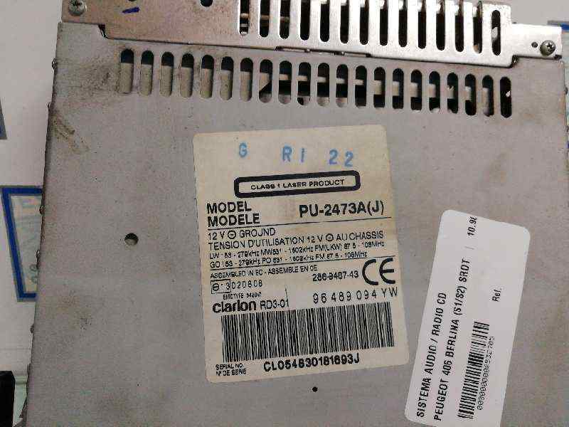 SISTEMA AUDIO / RADIO CD PEUGEOT 406 BERLINA (S1/S2) SRDT  2.0 HDi (109 CV) |   10.98 - 12.04_img_1