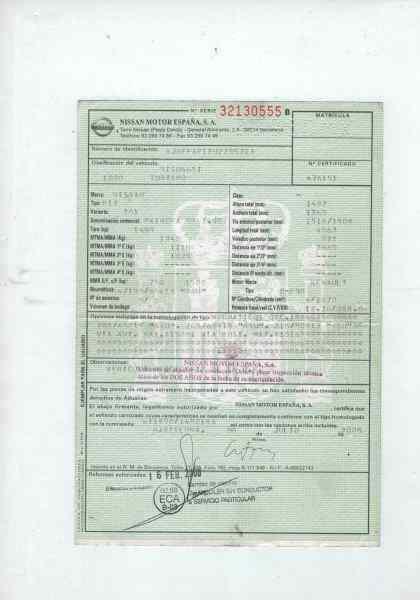 NISSAN PRIMERA BERLINA (P12) Tekna  1.9 16V Turbodiesel CAT (120 CV) |   01.03 - 12.05_img_5