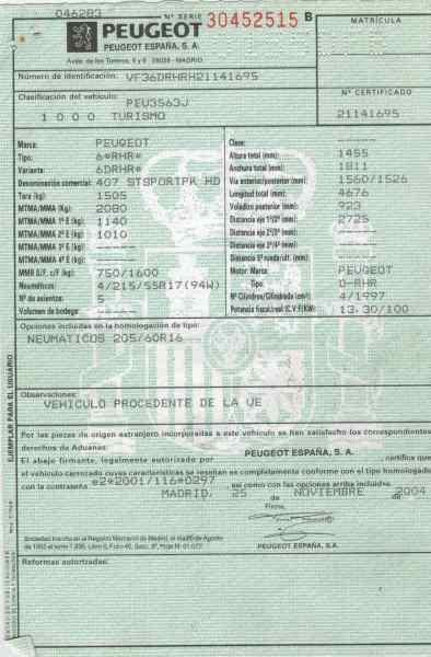 BATERIA PEUGEOT 407 ST Confort  2.0 16V HDi CAT (RHR / DW10BTED4) (136 CV) |   0.04 - ..._img_5