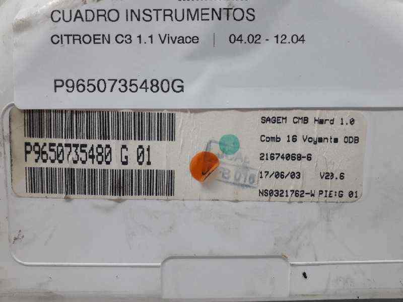 CUADRO INSTRUMENTOS CITROEN C3 1.1 Vivace   (60 CV) |   04.02 - 12.04_img_3