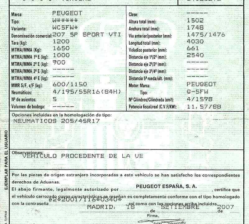 PUERTA DELANTERA IZQUIERDA PEUGEOT 207 Sport  1.6 16V (120 CV) |   07.07 - 12.10_img_2