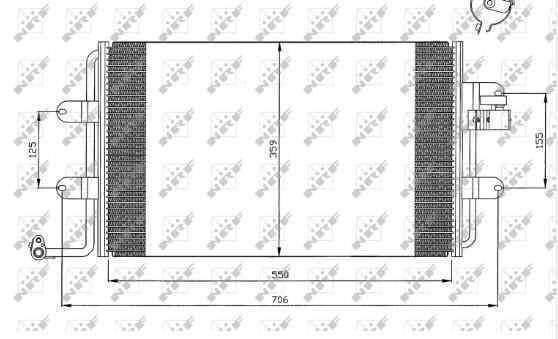 CONDENSADOR / RADIADOR  AIRE ACONDICIONADO VOLKSWAGEN NEW BEETLE (9C1/1C1) 1.9 TDI   (90 CV) |   10.98 - 12.04_img_2
