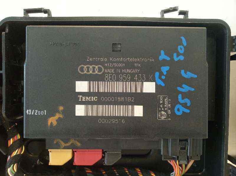MODULO CONFORT AUDI A4 BERLINA (8E) 1.9 TDI (96kW)   (131 CV) |   12.00 - 12.04_img_1