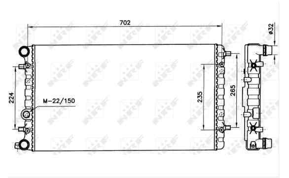 RADIADOR AGUA VOLKSWAGEN NEW BEETLE (9C1/1C1) 1.9 TDI   (90 CV) |   10.98 - 12.04_img_1