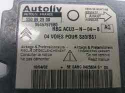 centralita airbag citroen saxo 1.1 sx   (60 cv) 1999-2003 9646757580