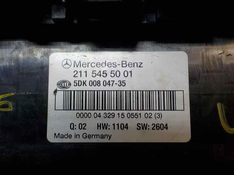 CAJA RELES / FUSIBLES MERCEDES CLASE E (W211) BERLINA E 350 (211.056)  3.5 V6 CAT (272 CV) |   10.04 - 12.09_img_1
